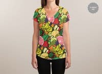 Fruit Print - womens-sublimated-v-neck - small view
