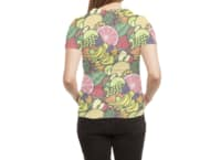 Fruit Print - womens-sublimated-triblend-tee - small view