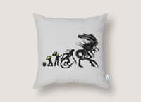 Alien Evolution - throw-pillow - small view