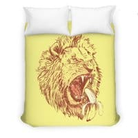 Banana Eating Lion - duvet-cover - small view