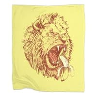Banana Eating Lion - blanket - small view