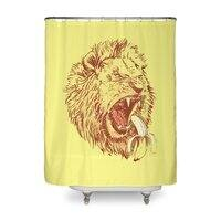 Banana Eating Lion - shower-curtain - small view