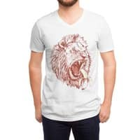 Banana Eating Lion - vneck - small view