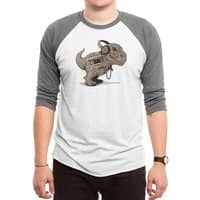 Tyrannosaurus Walkman - triblend-34-sleeve-raglan-tee - small view