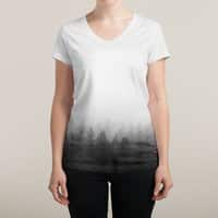 Noble Woods of Grey - womens-sublimated-v-neck - small view