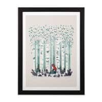 The Birches - black-vertical-framed-print - small view