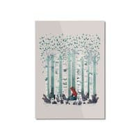 The Birches - vertical-mounted-aluminum-print - small view
