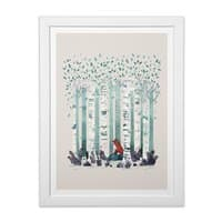 The Birches - white-vertical-framed-print - small view