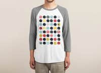 Funky Polka Dots - triblend-34-sleeve-raglan-tee - small view