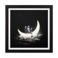 Moon Sailing - black-square-framed-print - small view