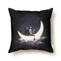Moon Sailing - throw-pillow - small view