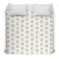 CHEESE DOODLES HOORAY!! - duvet-cover - small view