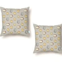 CHEESE DOODLES HOORAY!! - throw-pillow - small view