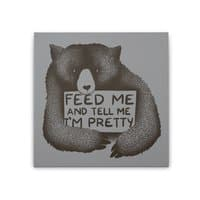 Feed Me And Tell Me I'm Pretty - square-stretched-canvas - small view