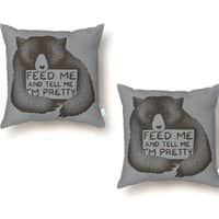 Feed Me And Tell Me I'm Pretty - throw-pillow - small view