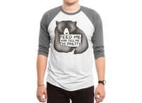 Feed Me And Tell Me I'm Pretty - triblend-34-sleeve-raglan-tee - small view