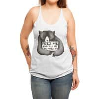 Feed Me And Tell Me I'm Pretty - womens-triblend-racerback-tank - small view