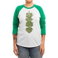 Nature conquers all. - triblend-34-sleeve-raglan-tee - small view