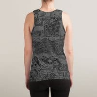Many Layered Doodle - sublimated-tank - small view