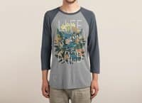 Life is Damn Good - triblend-34-sleeve-raglan-tee - small view