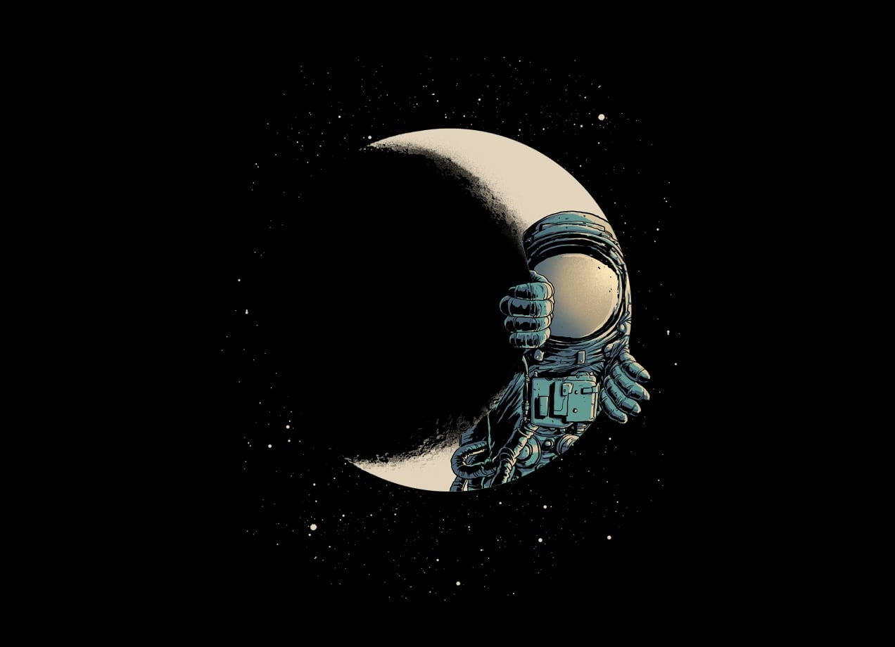Space In Art And Design : Crescent moon by carbine threadless