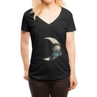 Crescent moon - womens-deep-v-neck - small view