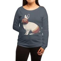 Rabbit Wrestler - womens-long-sleeve-terry-scoop - small view