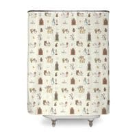 The Holy Grail Pattern - shower-curtain - small view