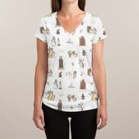 The Holy Grail Pattern - womens-sublimated-v-neck - small view