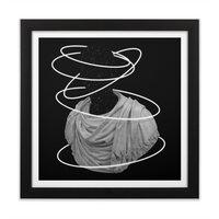 Halos - black-square-framed-print - small view
