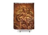 Dragon Priestess - shower-curtain - small view