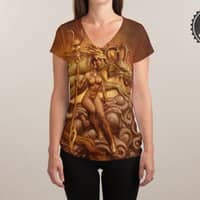 Dragon Priestess - womens-sublimated-v-neck - small view