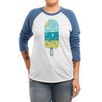 Melted Landscape - triblend-34-sleeve-raglan-tee - small view