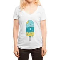 Melted Landscape - womens-deep-v-neck - small view