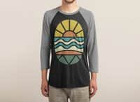 Let's Go Surfing - triblend-34-sleeve-raglan-tee - small view