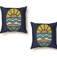 Let's Go Surfing - throw-pillow - small view