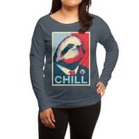 Sloth For President - womens-long-sleeve-terry-scoop - small view
