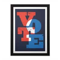 VOTE - black-vertical-framed-print - small view