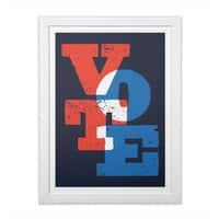 VOTE - white-vertical-framed-print - small view