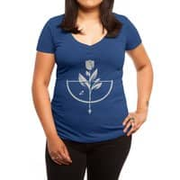 Rose Garden - womens-deep-v-neck - small view