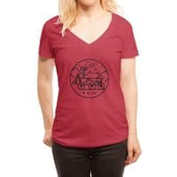 Stay Curious - womens-deep-v-neck - small view