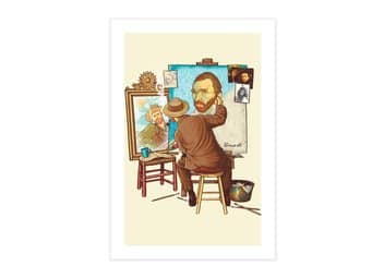 Van Gogh Triple Self-Portrait