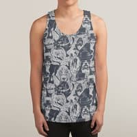 Vintage Dogs - sublimated-tank - small view