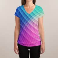 Spectrum Bomb! - womens-sublimated-v-neck - small view