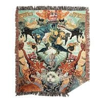 Meowosaurus - woven-blanket - small view