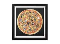 If the Internet Was a Pizza - black-square-framed-print - small view