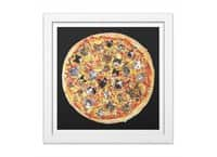 If the Internet Was a Pizza - white-square-framed-print - small view