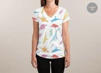 Dino - womens-sublimated-v-neck - small view