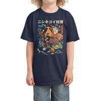 The Cat and the Koi - kids-tee - small view