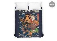The Cat and the Koi - duvet-cover - small view